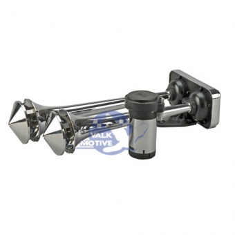 Wolo Power House chrome dual trumpet